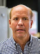 23 MAY 2019 - DES MOINES, IOWA: Congressman JOHN DELANEY (D-MD), at the Iowa Food Cooperative in Des Moines. He toured the co-op to help understand how Iowa farmers are finding new markets. Delaney is running to be the Democratic nominee for the US Presidency in the 2020 election and has visited all 99 of Iowa's counties. Iowa traditionally hosts the the first election event of the presidential election cycle. The Iowa Caucuses will be on Feb. 3, 2020.                         PHOTO BY JACK KURTZ