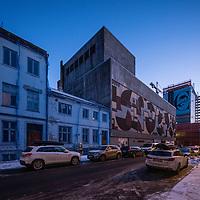 Teateret I Kristiansand blir bygd om og noe rives senere. Fasadene fra 28 februar 2018.