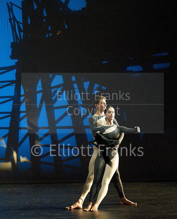 Nearly Ninety<br /> The Merce Cunningham Dance Company <br /> choreography by Merce Cunningham<br /> at The Barbican Theatre, London, Great Britain <br /> rehesrsal <br /> 26th October 2010 <br /> <br /> <br /> <br /> Dylan Crossman<br /> Jennifer Coggans<br /> <br /> <br /> Photograph by Elliott Franks<br /> 2010©Elliott Franks