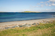 Sandy beach Melby near Sandness, Mainland, Shetland Islands, Scotland