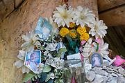 A shrine to Polish-born Pope John Paul II, on 17th September 2019, in Dolina Chocholowska, near Zakopane Malopolska, Poland. Jan Pawel II; born Karol Jozef Wojtyla (1920-2005) was head of the Catholic Church and sovereign of the Vatican City State from 1978 to 2005.
