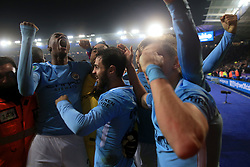 19th December 2017 - Carabao Cup (Quarter Final) - Leicester City v Manchester City - Tosin Adarabioyo of Man City (L) celebrates victory with his teammates - Photo: Simon Stacpoole / Offside.