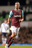 Andy Carroll of West Ham United looks on. Barclays Premier league match, Tottenham Hotspur v West Ham Utd at White Hart Lane in London on Sunday 22nd November 2015.<br /> pic by John Patrick Fletcher, Andrew Orchard sports photography.