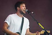 The White Lies Perform on the Other Stage. The 2014 Glastonbury Festival, Worthy Farm, Glastonbury. 29 June 2013.