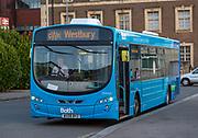 BathCity single decker bus GWR service to Westbury, Chippenham railway station, England, UK