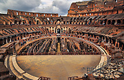The Colosseum or Roman Coliseum, originally the Flavian Amphitheatre, is an elliptical amphitheatre in the center of the city of Rome, Italy, the largest ever built in the Roman Empire