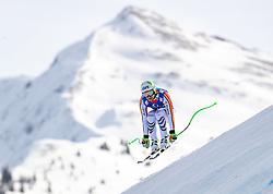13.02.2020, Zwölferkogel, Saalbach Hinterglemm, AUT, FIS Weltcup Ski Alpin, Abfahrt, Herren, im Bild Dominik Schwaiger (GER) // Dominik Schwaiger of Germany in action during his run for the men's Downhill of FIS Ski Alpine World Cup at the Zwölferkogel in Saalbach Hinterglemm, Austria on 2020/02/13. EXPA Pictures © 2020, PhotoCredit: EXPA/ Johann Groder