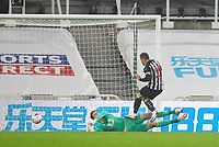 Football - 2021 / 2021 Premier League - Newcastle United vs Burnley - St Jame's Park<br /> <br /> Nick Pope of Burnley FC brings down Ryan Fraser of Newcastle United to give away a penalty<br /> <br /> COLORSPORT/BRUCE WHITE