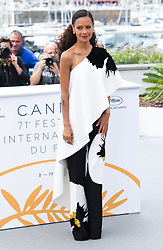 Thandie Newton during the Solo, A Star Wars Story photocall held during the 71st Cannes Film Festival in Cannes, France. Photo credit should read: Doug Peters/EMPICS