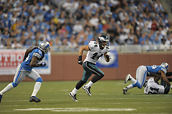 DETROIT - SEPTEMBER 19: Wide Receiver Riley Cooper #14 of the Philadelphia Eagles runs during the game against the Detroit Lions on September 19, 2010 at Ford Field in Detroit, Michigan. (Photo by Drew Hallowell/Getty Images)  *** Local Caption *** Riley Cooper