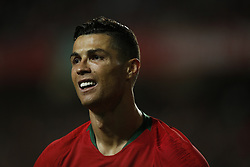 March 22, 2019 - Lisbon, Portugal - Cristiano Ronaldo of Portugal reacts during the Euro 2020 qualifying match football match between Portugal vs Ukraine, in Lisbon, on March 22, 2019. (Credit Image: © Carlos Palma/NurPhoto via ZUMA Press)