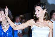 Queen Letizia of Spain attends Ara Malikian Concert at Porto Adriano on August 2, 2018 in Mallorca, Spain