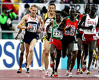 Friidrett, 11. august 2005, VM Helsinki, <br /> World Championships in Athletics<br /> Marius Bakken, Norger og Sileshi Sihine (274), ETH, Eliud Kipchoge KEN, (560)  Essa Ismail Rashed, Qat (767)