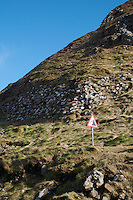 Headland at the Giants Causeway landmark in Antrim Northern Ireland