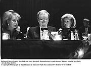 Barbara Walters, Rupert Murdoch and anna Murdoch. Humanitarian Awards dinner. Waldorf Astoria. New York. 10/1/90. Film 9115f11<br /> © Copyright Photograph by Dafydd Jones<br /> 66 Stockwell Park Rd. London SW9 0DA<br /> Tel 0171 733 0108