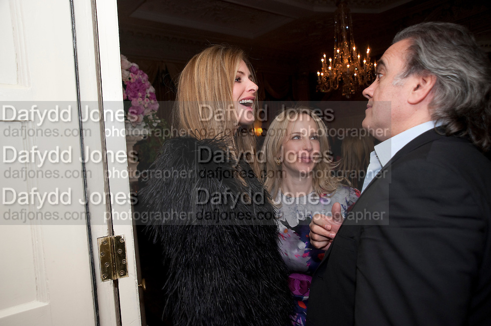 ZANDIE FORBES; TRINNY WOODALL, The Dowager Duchess od Devonshire and Catherine Ostler editor of the Tatler host a party to celebrate Penguin's reissue of Nancy Mitford's ' Wigs on the Green.'  The French Salon. Claridge's. London. 10 March 2010.