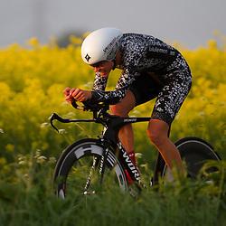 CYCLING 's-Heerenhoek: De eerste tijdrit voor vrouwen in het kader van de tijdritcompetitie werd verreden voorafgaand aan de omloop van Borsele. Tayler Wiles