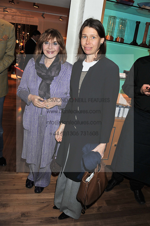 Left to right, DR MIRIAM STOPPARD and LADY SARAH CHATTO at the Linley Christmas Party held at Linley, 60 Pimlico Road, London on 16th November 2011.