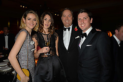 Left to right, FRANCESCA HERBERT, CHLOE HERBERT, the HON.HARRY HERBERT and JAKE WARREN at the 26th Cartier Racing Awards held at The Dorchester, Park Lane, London on 8th November 2016.