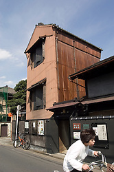 Old wooden house in historic and traditional Yanaka district of Tokyo Japan