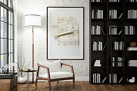 Vertical picture frame in living room