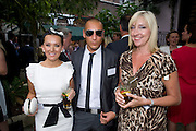 HEATHER JONES-HUGHES; SEAN-PAUL ROBERTS;, Archant Summer party. Kensington Roof Gardens. London. 7 July 2010. -DO NOT ARCHIVE-© Copyright Photograph by Dafydd Jones. 248 Clapham Rd. London SW9 0PZ. Tel 0207 820 0771. www.dafjones.com.