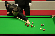 Mark Selby in action. Barry Hawkins (Eng) v Mark Selby (Eng) , Quarter-Final match at the Dafabet Masters Snooker 2017, at Alexandra Palace in London on Friday 20th January 2017.<br /> pic by John Patrick Fletcher, Andrew Orchard sports photography.