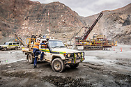 """Pit operations at the """"Super"""" pit in Kalgoorlie,in Western Australia."""