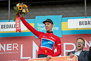 Jake Hennessy of Canyon dhb p/b Bloor Homes on stage as the leader of the King of the mountains classification during the second stage of the Tour de Yorkshire from Barnsley to Bedale, Barnsley, United Kingdom on 3 May 2019.