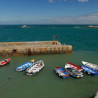 Europe, Ireland, Dalkey. Coliemore Harbour in Dalkey.