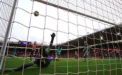 Southampton's Yann Valery (not pictured) scores his side's first goal of the game