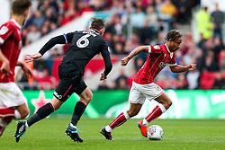 Bobby Reid of Bristol City is challenged by Richard Keogh of Derby County - Rogan/JMP - 16/09/2017 - Ashton Gate Stadium - Bristol, England - Bristol City v Derby County - Sky Bet Championship.