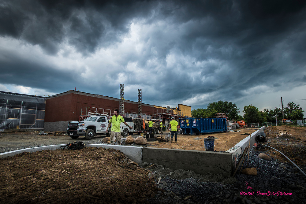 Work continues on construction of the new Keystone Harley-Davidson property at Jesse Reed Way and Eberhart Road, just off MacArthur Road. Scenes along MacArthur Road in Whitehall Twp., Lehigh County, Pa.. Picture made August 17, 2020.<br />  Donna Fisher Photography, LLC