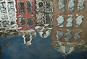 Reflection of Canal houses, Amsterdam.