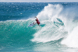 Julian Wilson of Australia posted a perfect 10 point ride in Heat 9 of Round Four of the Corona Open J-Bay in pumping overhead conditions at Supertubes, Jeffreys Bay, South Africa.