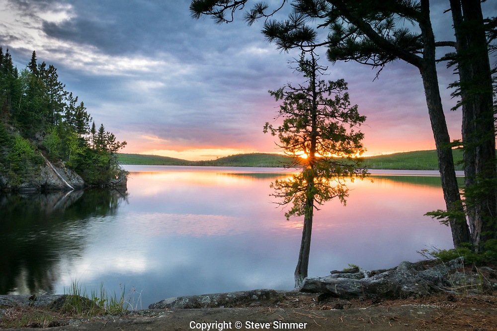 This lake, deep in the Boundary Waters Wilderness, is an annual favorite. This view from our campsite provides some extraordinary sunsets.
