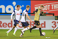 Marine forward Michael Howard (18) controls the ball during the The FA Cup match between Marine and Tottenham Hotspur at Marine Travel Arena, Great Crosby, United Kingdom on 10 January 2021.