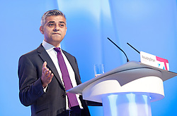 Rt Hon Sadiq Khan MP,.during the Labour Party Conference in Manchester, October 3,  2012, Photo by Elliott Franks / i-Images
