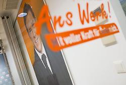 28.05.2014, BZOe Pressesaal, Wien, AUT, BZOe, Pressekonferenz zum Thema: Zukunft des BZOe. im Bild Bildnis von Joerg Haider // Picture of Joerg Haider during BZOe press conference about the future of BZOe at BZOe Pressroom in Vienna, Austria on 2014/05/28. EXPA Pictures © 2014, PhotoCredit: EXPA/ Michael Gruber