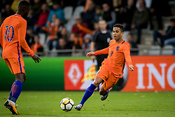 (L-R) Riechedly Bazoer of Jong Oranje, Justin Kluivert of Jong Oranje during the EURO U21 2017 qualifying match between Netherlands U21 and Latvia U21 at the Vijverberg stadium on October 06, 2017 in Doetinchem, The Netherlands