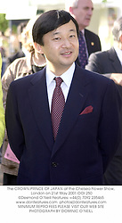 The CROWN PRINCE OF JAPAN at the Chelsea Flower Show, London on 21st May 2001.OOI 250