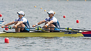 Poznan, POLAND, 21st June 2019, Friday, Morning Heats, USA. W2X -/2 (b) O'LEARY Meghan and (s) TOMEK Ellen, FISA World Rowing Cup II, Malta Lake Course, © Peter SPURRIER/Intersport Images,<br /> <br /> 10:37:15