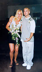 19 Jan,2006. Collect photograph.  Happier days near St Joseph, Kansas.  Marshall Bruce Masthers III, aka Eminem at his first wedding to Kimberly Anne Scott in 1999.<br /> Photo Credit: Kresin via  www.varleypix.com