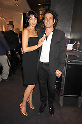 STEPHEN and ASSIA WEBSTER at a party to celebrate the new Stephen Webster store on Mount Street, London W1 followed by a dinner at Maddox, Mill Street, London on 24th June 2009.
