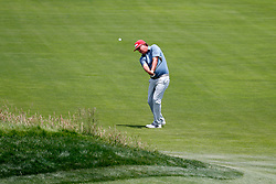 June 11, 2019 - Pebble Beach, CA, U.S. - PEBBLE BEACH, CA - JUNE 11: PGA golfer Jason Dufner plays the 18th hole during a practice round for the 2019 US Open on June 11, 2019, at Pebble Beach Golf Links in Pebble Beach, CA. (Photo by Brian Spurlock/Icon Sportswire) (Credit Image: © Brian Spurlock/Icon SMI via ZUMA Press)