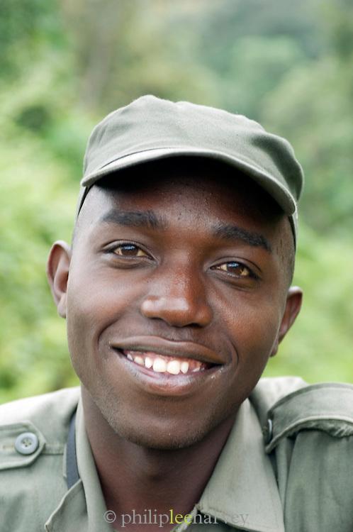 Park ranger in Nyungwe National Park Rwanda,