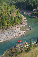 Rafting on the Middle Fork Flathead River Glacier National Park Montana