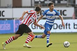 Craig Goodwin of Sparta Rotterdam, Younes Namli of PEC Zwolle during the Dutch Eredivisie match between Sparta Rotterdam and PEC Zwolle at the Sparta stadium Het Kasteel on August 20, 2017 in Rotterdam, The Netherlands