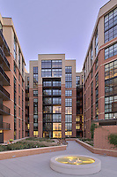 DC Architectural photographer image of courtyard of Io Piazza Apartment building by Jeffrey Sauers of Commercial Photographics