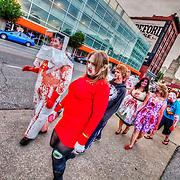 Zombie Walk on the Crossroads District First Friday event, June 1, 2012, Kanas City, Missouri.